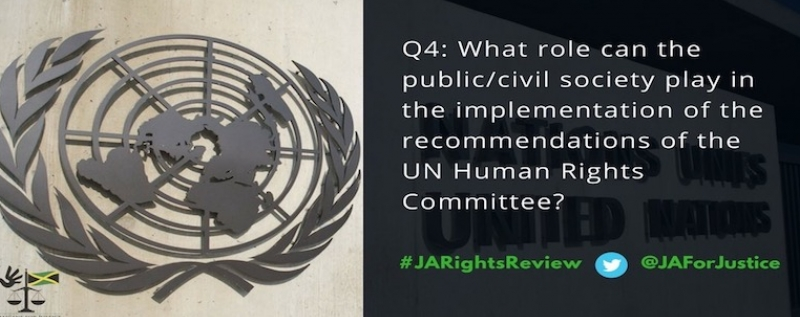 NGO mobilise for Jamaica's review at the Human Rights Committee