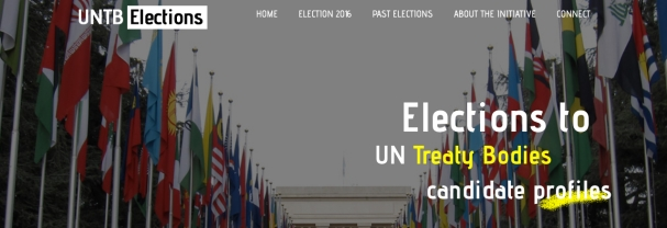 Joint civil society initiative: United Nations treaty body elections website