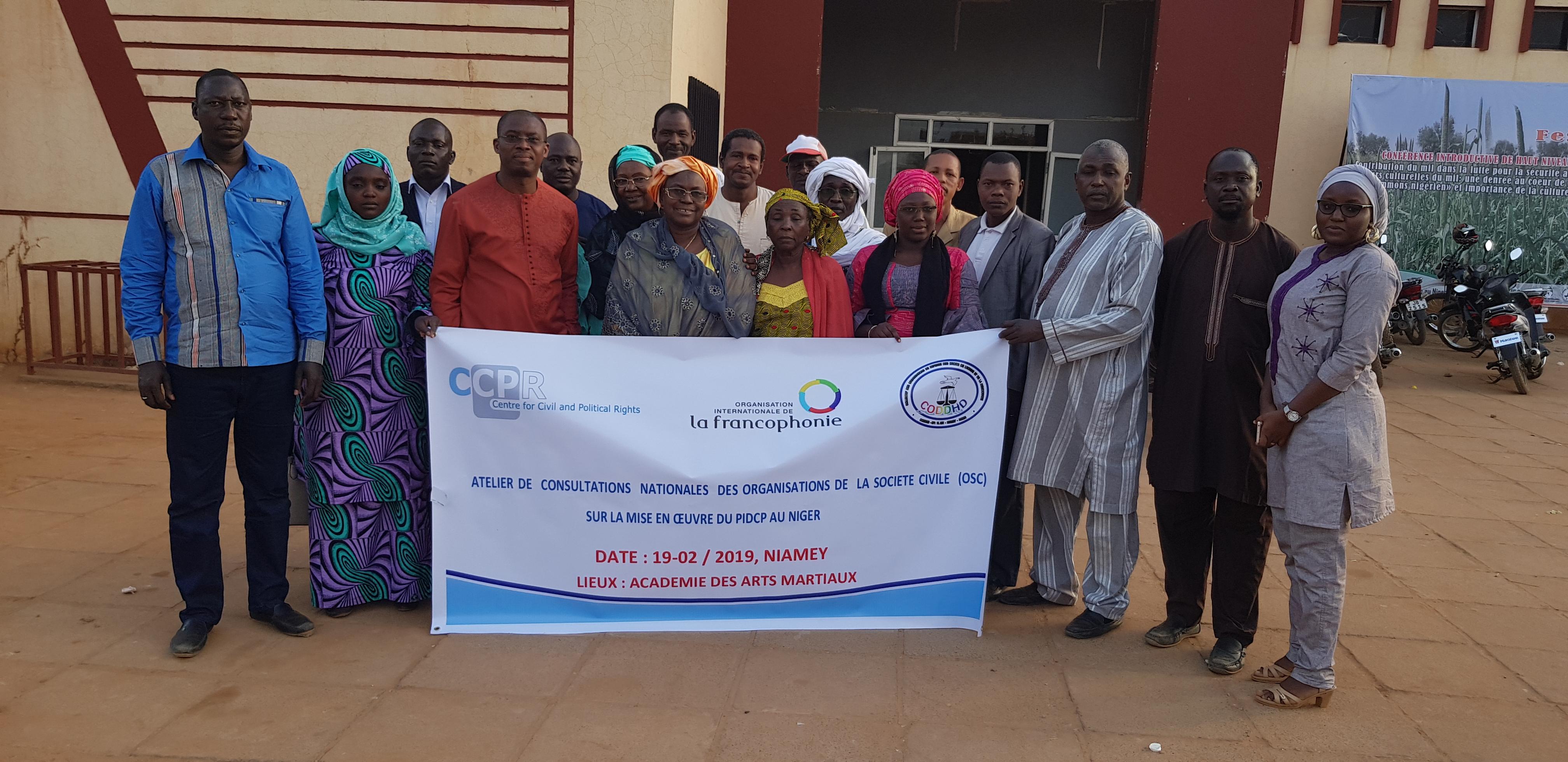 Le CCPR renforce la participation des OSC à l'examen de la mise en œuvre du PIDCP au Niger